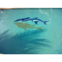 Stone Gloss Printed Glass Mosaic Tiles, For Swimming Pool Tiling, Thickness: 8 - 10 Mm