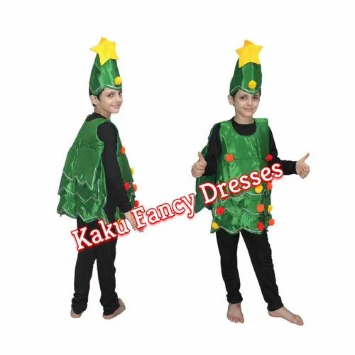 Green Polyester Kids Christmas Tree Cut Out Costume Rs 250 Piece