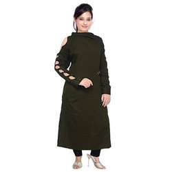 Ladies Cotton Full Sleeves Designer Dress, Size: S - XXL
