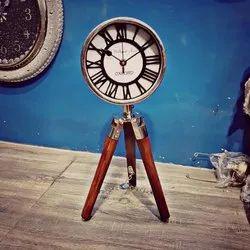 Vintage Crafts Wood Vintage Tripod Clock for Home
