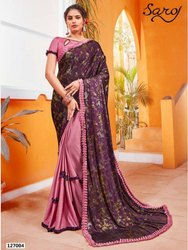Party Wear Designer Frill Lycra Saree