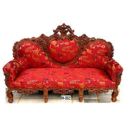 Red Wooden Sofa