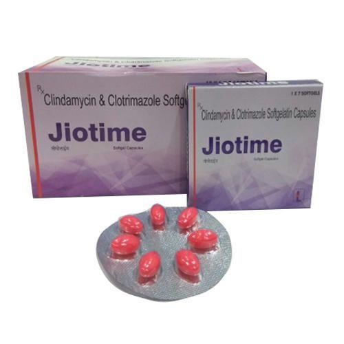 Jiotime Clindamycin and Clotrimazole Softgelatin Capsules, Packaging Type: Box, 1 x 7 Capsules