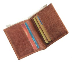 RFID Blocking Genuine Leather Business Card Holder