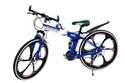 Bmw Blue Folding Sports Bicycle