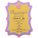 Matte Paper Baby Shower Invitation With 3 Layers, 1