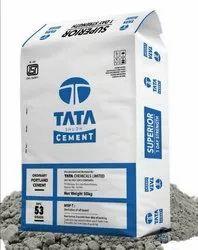 Grey Tata Cement OPC (Ordinary Portland Cement), Grade: 53 Grade, Cement Grade: Grade 53