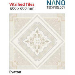 Ceramic Soluble Salt Vitrified Floor Tiles, Size: 600 x 600 mm, Thickness: 6 - 8 mm