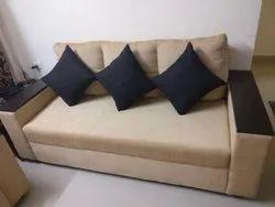 L Shape Fibre & Fabric Sofa, Warranty: 3 Year, Model Number/Name: Peach