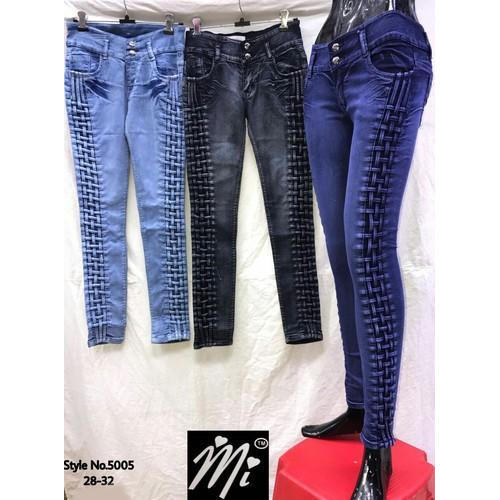 64e0b2eaa97 Blue And Black Denim Ladies Skinny Jeans, Size: 28-32, Rs 450 /piece ...