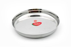 Round Stainless Steel Thali, For Home, Hotel etc, Size: 11 Inch