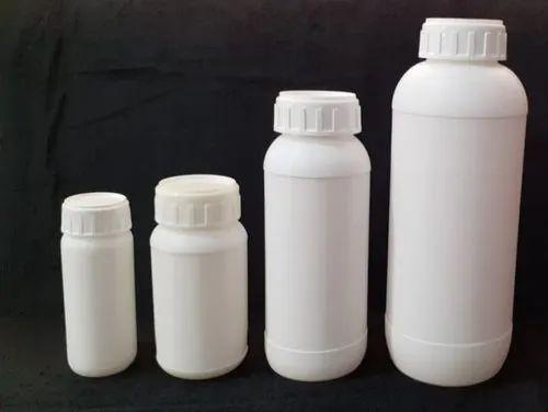 Virgin White HDPE Pesticide Bottle, Capacity: 500 ml