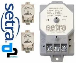 Setra Model 265 Differential Pressure Transducer Range 0-50 Pascal