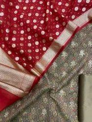 Banarasi cotton lorex digital print suits