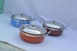 Ankur 3pcs Color Coating Hot Pot, Size: 4*6