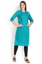 Straight -Cut Cotton Kurti