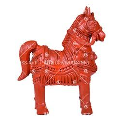 Clay Horse Statue