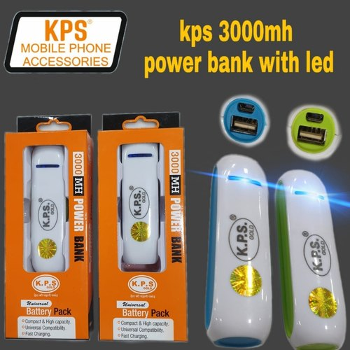 Travel KPS GOLD KPS 3000mh Portable Battery Charger With LED for Mobile Charging