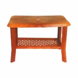 SHUBH Brown Plastic Coffee Table, For Home,Office