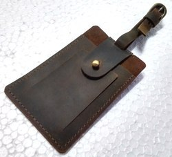 Vintage Leather Tag Holder