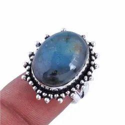Vintage Bezel Setting oxidized jewelry ring