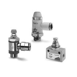 Silver Aluminium And Brass/Bronze Camozzi Flow Control Valves