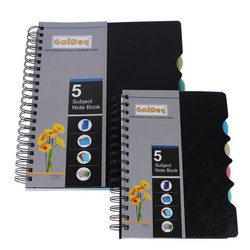 Golden Black Paper 5 Subject Notebook, Paper Size: A4, Size: A 4