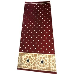 Maroon High quality Dotted Janamaz Mosque Carpet