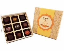 Zoroy Luxury Chocolate Diwali Themed 9 Assorted Chocolates Gift Box