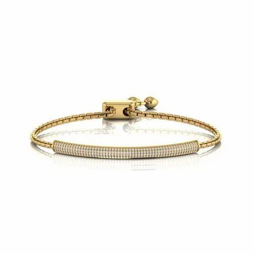 Female 14kt Gold Diamond Bracelet For
