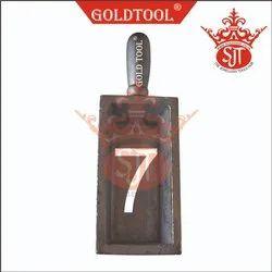 Gold Tool Ingot Mold Casting No. 7 Per Kg.