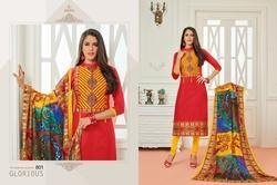 3/4 Sleeve Sararara Salwar Suit Fabric