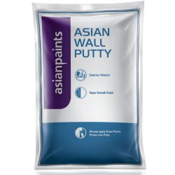 White Asian Paints Wall Putty, Packaging Type: Packet, Packaging Size: 40 Kg