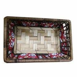 Rectangular Bamboo Holiday Gift Basket, Size/Dimension: 12x6 Inch, Box Capacity: 1-5 Kg