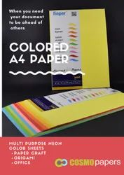 Multicolor Color Printing Paper, Size: 25x36 inch