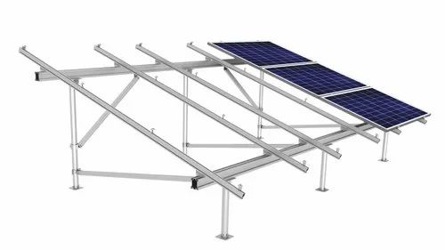 C Channel Mild Steel Solar Mounting Structure, Thickness: 2-3 Mm