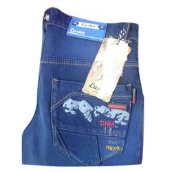 Blue Stretchable Men Solid Denim Jeans, Packaging Type: Plastic Bag