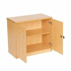 Brown Double Door Wooden Cabinets, For Office and Home, Polished