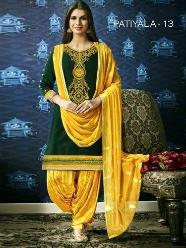 ba5d58cc25 SATIN COTTON Patiala Dress, Rs 900 /piece, AFZAL TEXTILES | ID ...