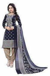Punjabi Suit Unstitched Georgette Unstiched Suits, Wash Care : Dry Clean