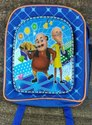Polyester Blue Motu Patlu Printed Kids School Bag