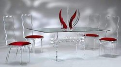 Delmara 35 To 40 Kg Acrylic Dining Table Set