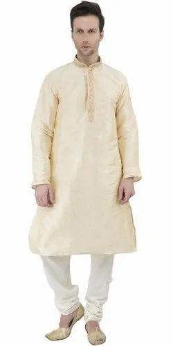 ad780ab25da3 Indian Kurta Pajama Long Sleeve Button Down Dress for Men Traditional Wear