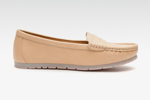 Women Nude-Colored Loafers Shoe at Rs