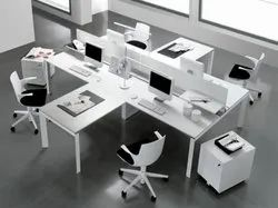 White Modular Office Workstation.