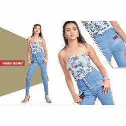 Ladies High Waist Denim Jeans