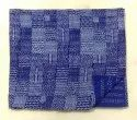 Indigo Blue Cotton Kantha Quilt