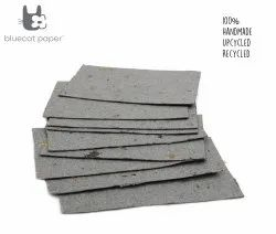 Handmade Paper, Fine-Cut, A4 Size - Coffee Husk Dry Grey