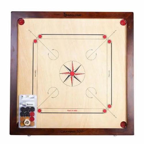 Wood Geologic Carrom Board 520 Size 29 X 29 Board Rs 2999