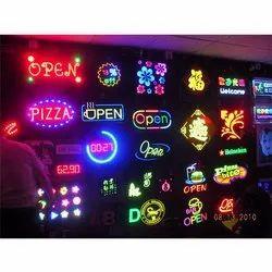 Acrylic LED Signage, For Advertising, 220 V